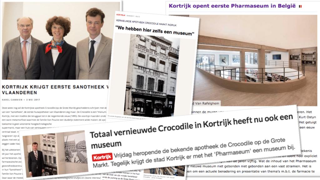 Crocodile: voortaan apotheek, sanotheek en museum.